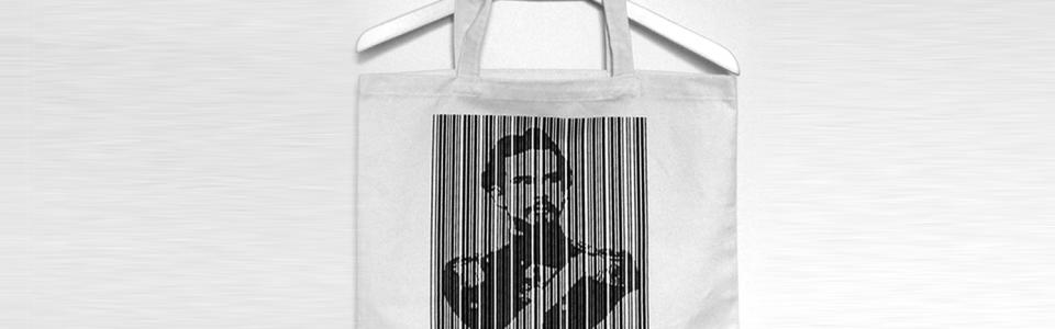 Baumwoll-Tasche mit Barcode Print
